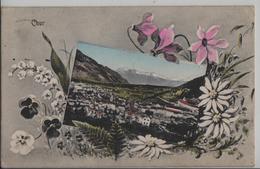 Chur - Gesamtansicht, Edelweiss-Karte - Photo: H. Guggenheim No. 14440 - GR Grisons