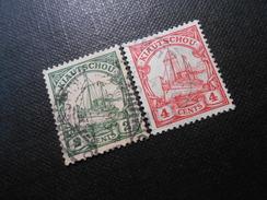 D.R.Mi 19/20 - 2/4C  Deutsche Kolonien (Kiautschou) 1905 - Mi € 4,00 - Colony: Kiauchau