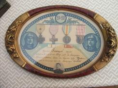 Tableau Médailles Et Diplôme - France