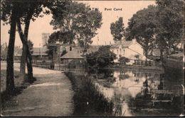 ! Alte Ansichtskarte, Ath, Pont Carre, Kanal, Canal - Ath