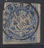 Bayern 1868 7Kr Bamberg 11.Apr 1869 (o) Mi.21 - Bavaria