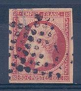 FRANCE - 17A  NAPOLEON 80C CARMIN 4 BELLES MARGES USED COTE 65 EUR - 1853-1860 Napoleone III