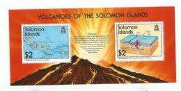 1994 Solomon Islands Volcanoes Miniature Sheet Of 2  Complete MNH - Volcanos