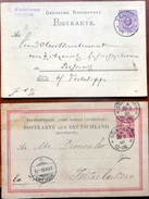 ALLEMAGNE 5 ENTIERS POSTAUX CARTES COMMERCIALES OBLITEREES  EN 1883 EBNA TELTOW COLOGNE ... - Postmark Collection (Covers)