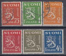 FINLANDIA 1942 Nº 255/60 USADO - Finlandia
