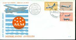 Erste Flüge-Primi Voli-First Flights--marcofilia-primeros Vuelos-NEDERLANDSE ANTILLEN-ALM DUTCH ANTILLEN AIRLINES - Antille