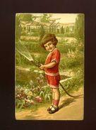 CPA -  Enfant  Arrosant Un Jardin  - Ed La Cigogne - Bonne Fête - Scenes & Landscapes