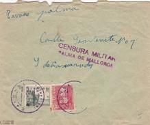 05011 Carta MATASELLO CALONGE,  Censura Militar Palma De Mallorca - 1931-Oggi: 2. Rep. - ... Juan Carlos I