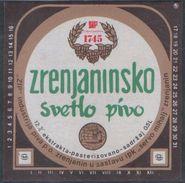 ZRENJANINSKO SVETLO PIVO BEER 0.5l , Brewery ZRENJANIN Jugoslavia Serbia, Lebels (unused, New) The Brewery Is Closed - Beer