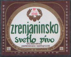 ZRENJANINSKO SVETLO PIVO BEER 0.33l , Brewery ZRENJANIN Jugoslavia Serbia, Lebels (unused, New) The Brewery Is Closed - Beer