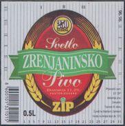 ZRENJANINSKO SVETLO PIVO BEER 0.5l , Brewery ZRENJANIN Jugoslavia Serbia, Lebels (unused, New) The Brewery Is Closed - Bière