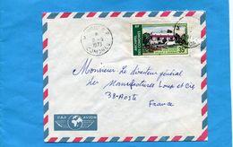 Marcophilie-COMORES->Françe--cad  Moroni-1973 Stamp N°A46 Anjouan -palais - Comores (1950-1975)