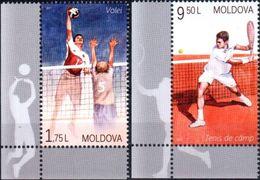 "Moldova 2017 ""Sport. Volleyball & Tennis"" 2v Quality:100% - Moldavië"