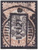 Finland (1917-1918):- Definitive/Lion & Wavy Line (10 Mk):- USED - Finlande