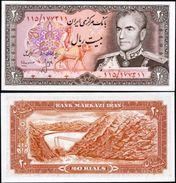 Iran 20 Rials 1974 UNC - Iran