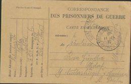 Kriegsgefangenensendung, Depot Lille, Infanterie-Regiment 134, Postkarte, Militär, Prisonniers, Weltkrieg 1914-18 - Guerra 1914-18