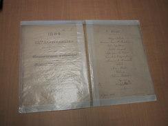 Ieper - Ypres / Menu 1909,25me Anniversaire De L'Avènement Du Gouvernement Catholique Et Jubilé Parlement. De Mr Colaert - Other Collections