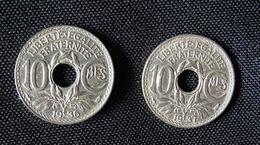 2 Pièces De 10 Centimes, 1936 Et 1937,LINDAUER- - France