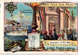 LIEBIG Crême CREME - 6 Cards Complete Litho Set C1900 PUB German Text - Serie_Von Fels Zum MEER - Liebig