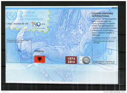 7491  IRC IAS CRI International Reply Coupon Albanien Albanie T39  AL20140729AA - Albania
