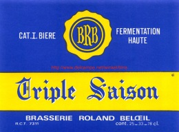 Brasserie Roland - Beloeil - Triple Saison - Bière