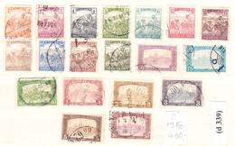 Harvest - Parliament Stamp Set 1916. 19 Pieces, Catalog Value: 400 Ft (d 339) - Oblitérés