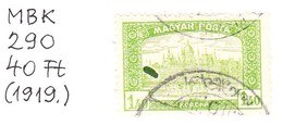 Catalog Of Hungarian Stamps 290 (1919) Production Error: Large Green Patch (d 341) - Hongrie