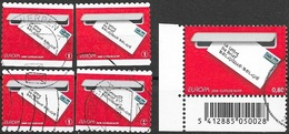 W039 Belgium-Belgique 5 Different Stamps  2008  Used-oblit. - 2008
