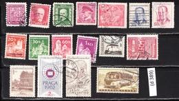Czechoslovak Stamped Stamp Collection, 17 Pieces (d 389) - Tchécoslovaquie