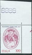 Italia 1982; Francesco Tasso, Organizzò Il Servizio Postale In Europa. Angolo Superiore. - 6. 1946-.. Repubblica