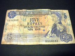 ILE MAURICE 5 Rupees 1967, Pick N° 30 C , MAURITIUS - Maurice