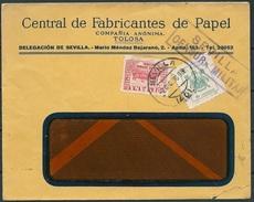 España 1936. Carta De Tolosa A Sevilla. Censura. - Marcas De Censura Nacional