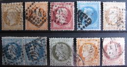 LOT R1631/1718 - LOT DE TIMBRES CLASSIQUES (Tous états) - Cote : 163,00 € - 1862 Napoleon III