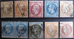 LOT R1631/1719 - LOT DE TIMBRES CLASSIQUES (Tous états) - Cote : 167,00 € - 1862 Napoleon III