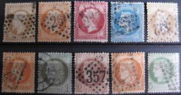 LOT R1631/1722 - LOT DE TIMBRES CLASSIQUES (Tous états) - Cote : 188,00 € - 1862 Napoleon III