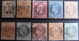 LOT R1631/1728 - LOT DE TIMBRES CLASSIQUES (Tous états) - Cote : 174,00 € - 1862 Napoleon III