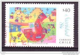 Chili, Chile, Noël, Dessin D´enfant, Christmas, Children Drawing, Cactus, Lama - Natale