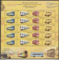 INDIA, 2017, SCARCE, Means Of TRANSPORT (PUBLIC), Buses, Trams, Metro Train, Full Sheet Of 5 Sets (20 Stamps)  MNH (**) - FDC
