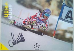Anna Vieth , Austrian Olympic Skier, PP - Autographes