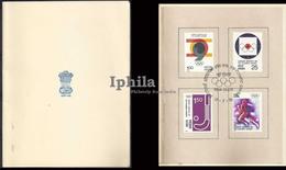 RARE VIP Folder   XXI Olympic Games 1976 Shot Put Athletics Hockey Indian Indien Olympics Montreal Canada India - Summer 1976: Montreal