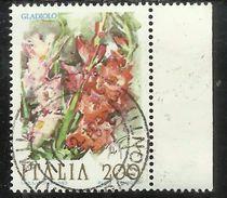 ITALIA REPUBBLICA ITALY REPUBLIC 1983 FLORA FIORI FLOWERS GLADIOLO  FIORE FLOWER USATO USED OBLITERE´ - 1981-90: Oblitérés