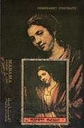 Gemälde Maler Rembrandt 1972 Manama Block 198 O 3€ Porträt Frau Am Fenster Hojita Bloc Painting Art Sheet VAE Ajman - Manama