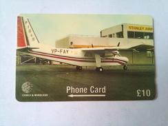 Falkland Islands 275CfKB British Norman Islander 10 Pounds - Avions