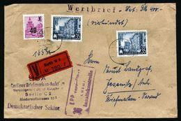 A4855) DDR Wertbrief 1955 Ostberlin - DDR Zollkontrolle Sehr Selten !! - DDR