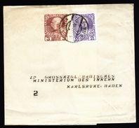 A4856) Österreich Austria Auffrankiertes Streifband 1913 An Ministerium D. Innern Karlsruhe - Briefe U. Dokumente