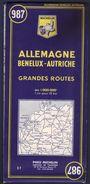 Carte Michelin 987 Allemagne Bénelux Autriche - Edition 1967 - Cartes Routières