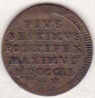 Pie VII / Pio VII.  Mezzo Baiocco 1802 An. II, Zecca Di Roma - Vatican