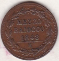 Pie IX / Pio IX.  Mezzo Baiocco 1848 Zecca Di Roma An. III - Vatican