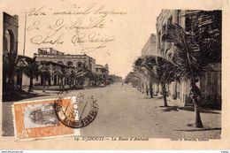 DJIBOUTI - La Route D'Ambouli   Carte écrite En 1923  2 Scans - Dschibuti