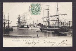 CPA 59 - DUNKERQUE - Le Bassin Freycinet Et Les Docks - TB PLAN Bâteaux Dont TB VOILIER CP Voyagée 1903 - Dunkerque